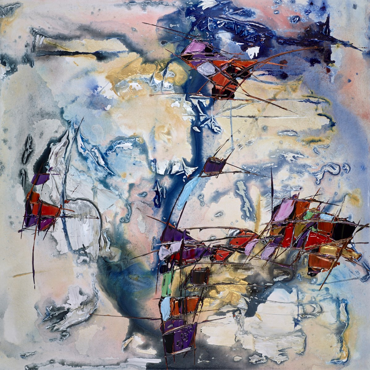 Fragments V by maya eventov -  sized 30x30 inches. Available from Whitewall Galleries